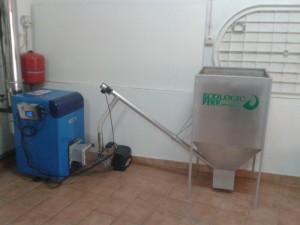 pellets biomasa caldera agua