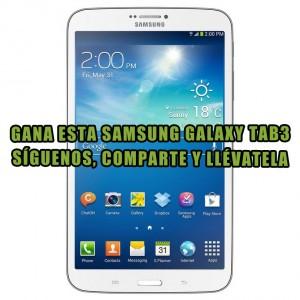 Sorteo Samsung Galaxy Tab3